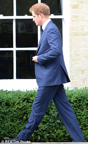 Prince Harry strides into Brentwood Cathedral