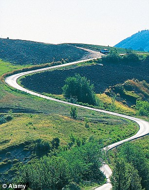 The long and winding road: Italy was voted the most difficult terrain by British motorists