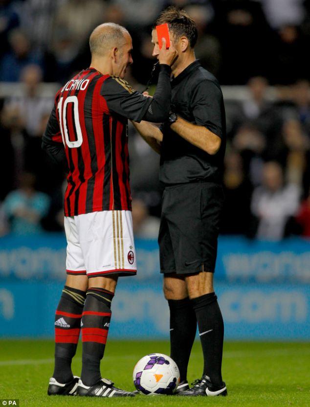 Joker: Di Canio pretends to send off referee Mark Clattenburg