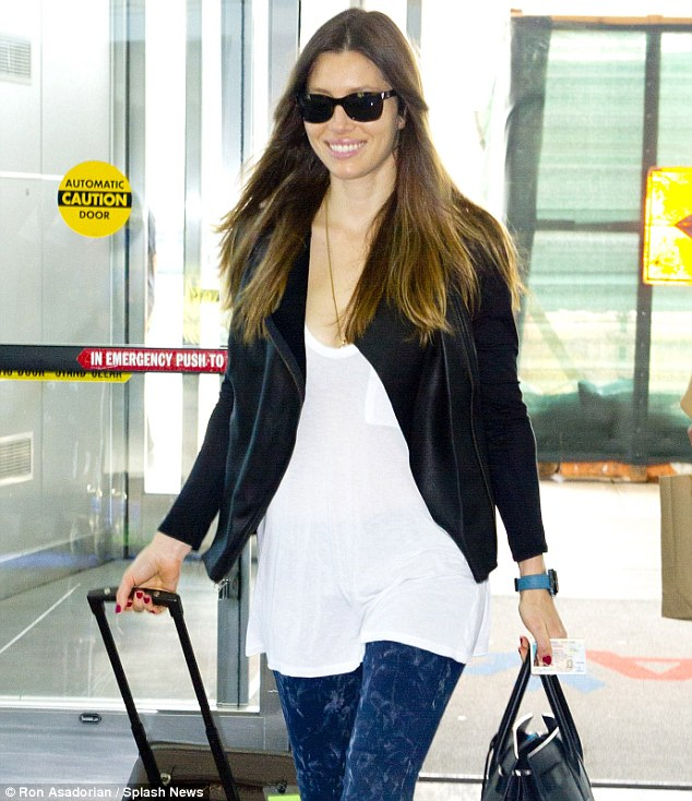 You can call me Mrs. Timberlake now! Jessica Biel was seen catching a flight out of JFK airport on Wednesday after it was reported that she had legally changed her name to Jessica Timberlake