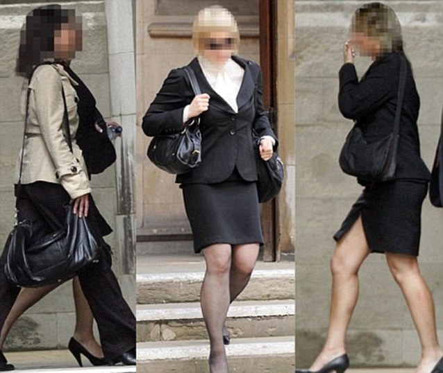 (left to right) Woman D, Woman B and Woman C, above and a fourth, Woman A, all denied there was any Nazi element to the orgy at the trial against the News of The World