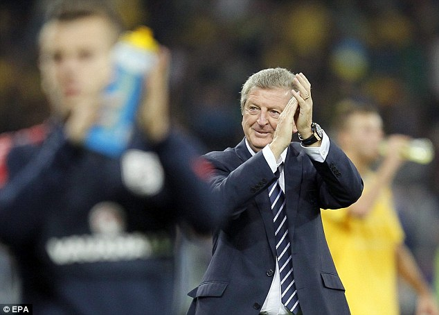Top of the group: Hodgson's England top the qualifying group with two games to go
