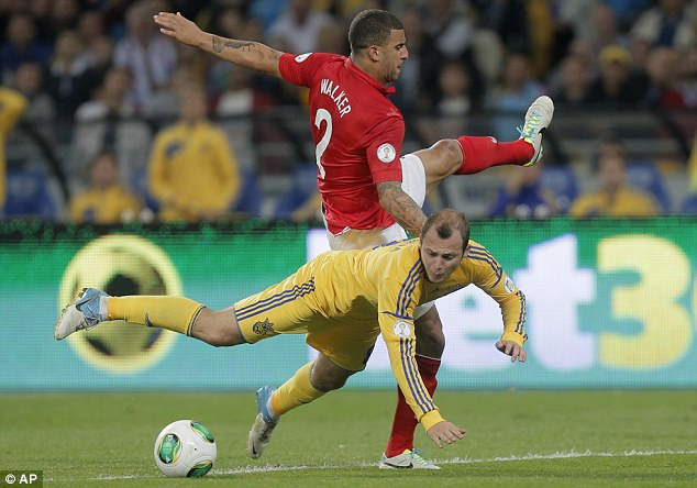 Scrappy affair: But, crucially, England got the job done in Ukraine