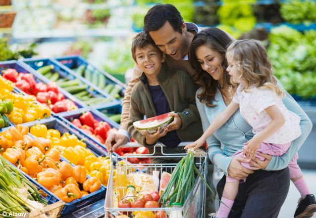 Chore: When families get relatively little time to spend together, many have come to resent the chore of battling the crowds and queues associated with the weekend shop