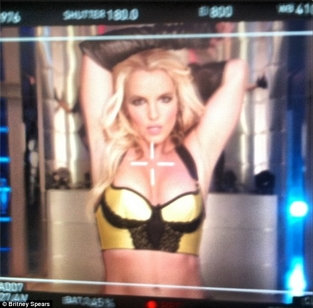 Are you ready? Spears teased fans with a clip of her Work Bitch video