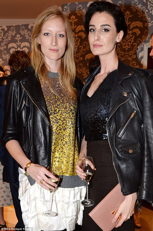 Fashionistas: Erin hung out with fellow model Jade Parfitt at the New Bond Street Maison