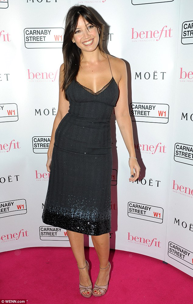 Double party girl: Daisy also attended the Benefit Cosmetics store launch in Carnaby Street on Wednesday night