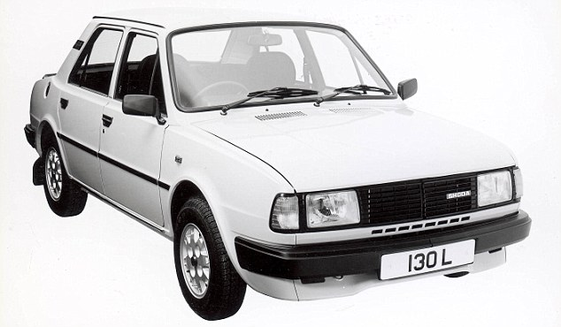 Motor joke: Skoda's have become popular vehicles in Britain - but in 1988 it had this: the Estelle