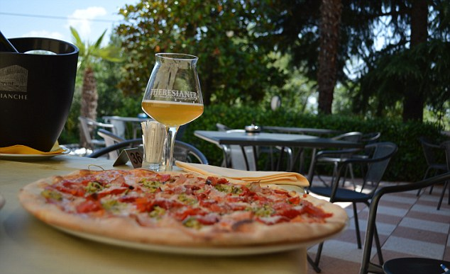 Pizza and a well-deserved beer