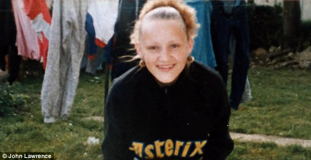 Melinda pictured at age 13, around the times she was assaulted
