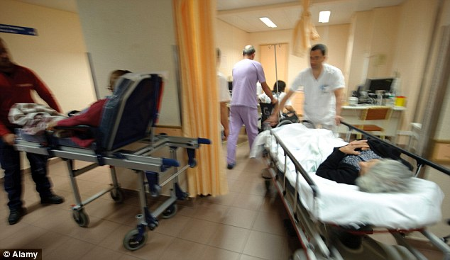 Figures show that the death rates in English hospitals last year were 45 per cent higher than in America. File picture