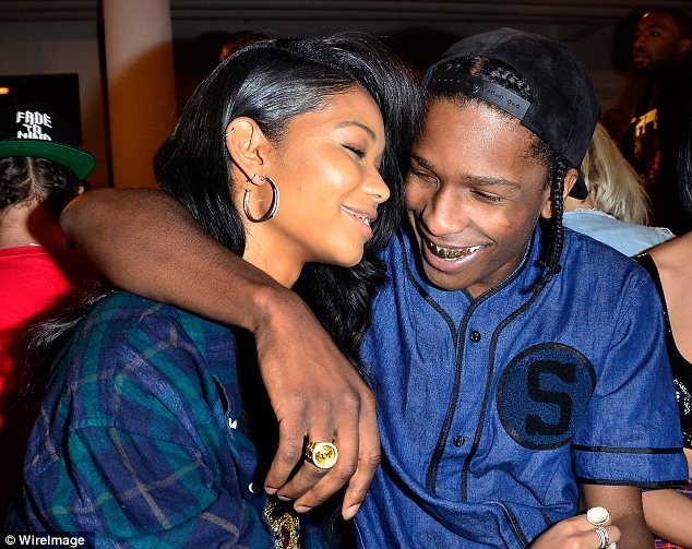 Cute couple: Model Chanel Iman and her rapper beau A$AP Rocky couldn't keep their eyes off each other