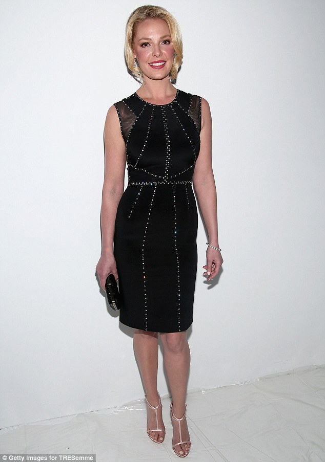Mounting a comeback: Katherine Heigl attends a fashion event at the Lincoln Center on February 12 in New York City