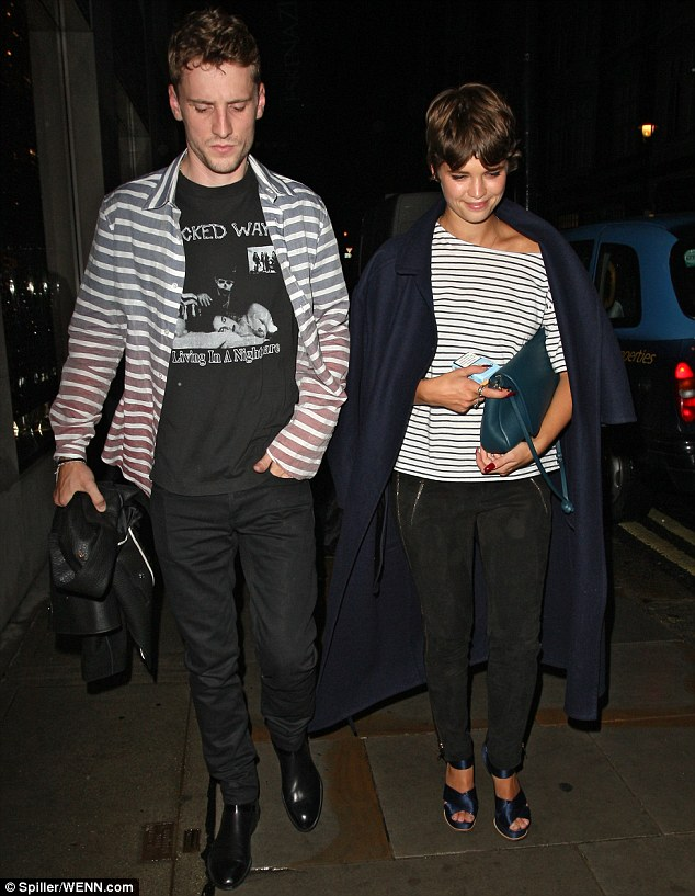 Star studded: Pixie Geldof was also spotted exiting the dinner on New Bond Street to celebrate the Men's Autumn Winter 2013 Louis Vuitton Collection