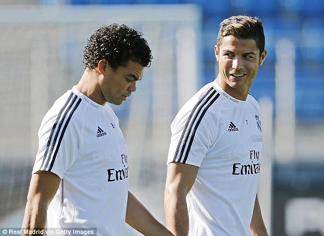 Post-Mourinho Portuguese contingent: Ronaldo with team-mate Pepe