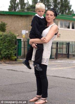 Rachel Piper (left) met with headteacher Ruth Swailes to discuss her son Keane (right) being moved class