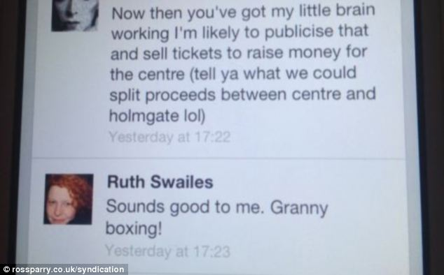 Mrs Swailes even jokingly suggested 'granny boxing'