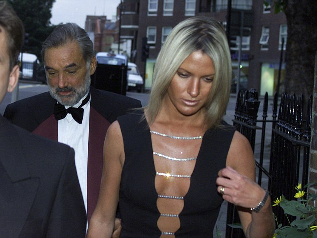 Black tie: Best and his wife Alex in 2000