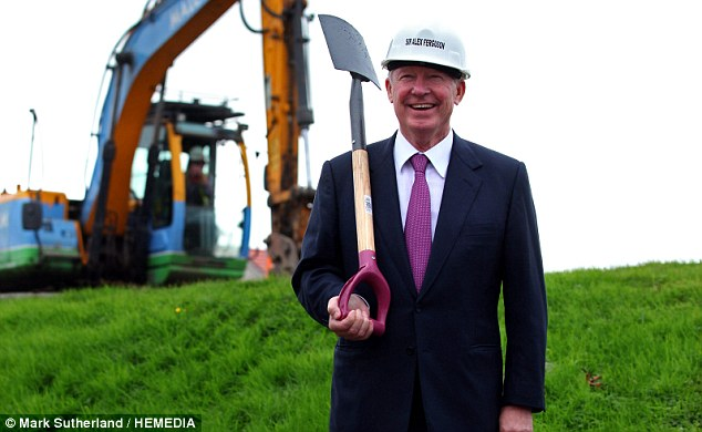 Former Manchester Utd manager Sir Alex Ferguson was at the site of the Kilbride Hospice, East Kilbride