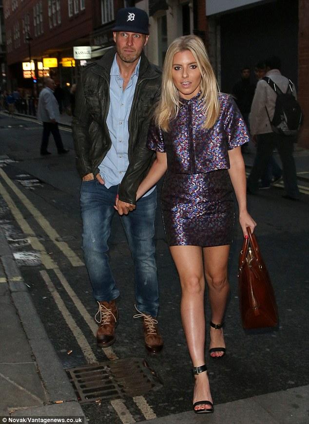 Transatlantic lovers: Mollie showed Jordan round London last week