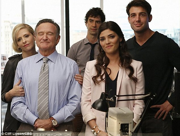 Crazy: Williams stars alongside Sarah Michelle Gellar (far left), Hamish Linklater, Amanda Setton and James Wolk in the show, which premieres September 26
