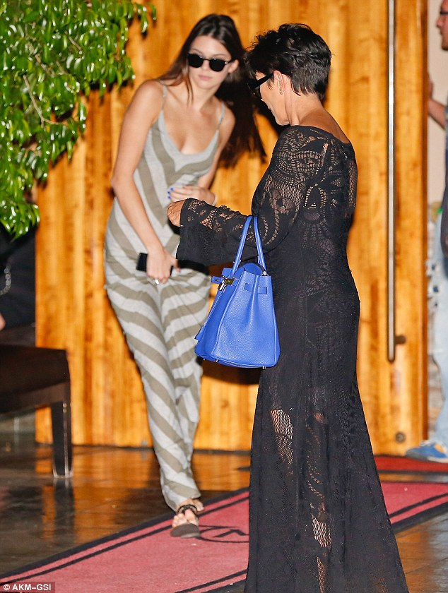 Just a normal teenager? Kendall spent Wednesday with her family, filming their reality show Keeping Up With The Kardashians at a Malibu vineyard