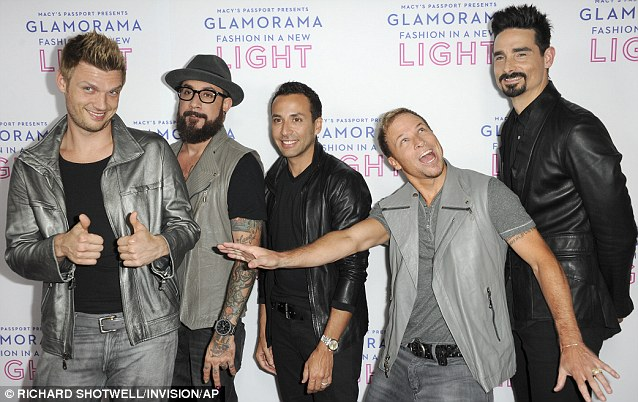 Making a comeback: The Backstreeet Boys were part of the night's entertainment