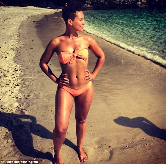 Lucky man! Swizz Beatz posted this photo of his wife Alicia Keys on vacation in Rio de Janeiro, Brazil
