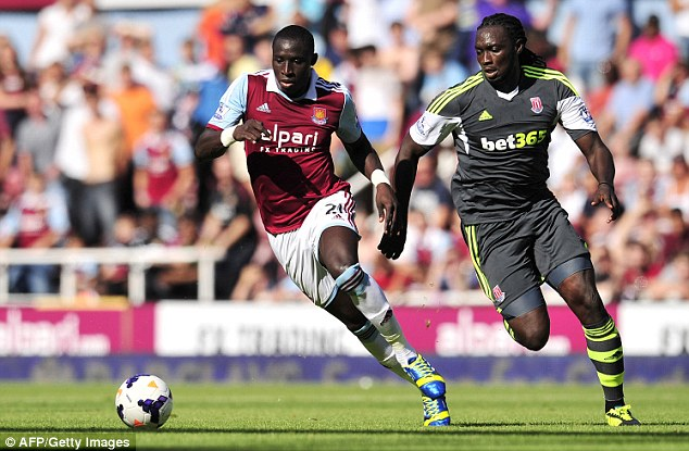 Shaken off: Kenwyne Jones (right) is likely to feature for the Potters after overcoming a niggling injury