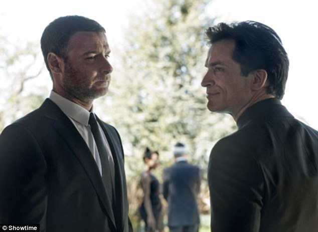 A teacher and a co-star: Liev Schreiber (L) and Johnathon Schaech play opposite one another in the Showtime television series Ray Donovan, pictured here