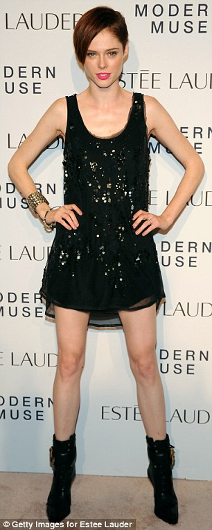 Shimmer: Model Coco Rocha (L) and Julie Macklowe added a touch of sparkle to their outfits for the evening