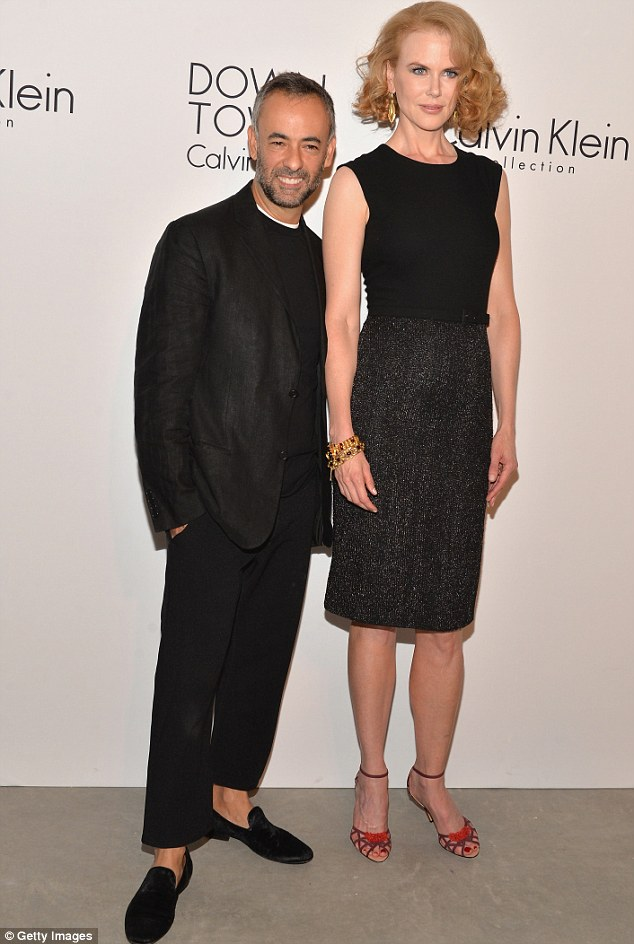 Designer friends: Nicole posed with designer Francisco Costa at the star-studded event in NYC