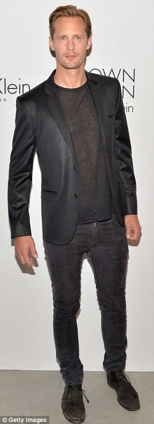 Actor Alexander Skarsgard attends the Calvin Klein Collection
