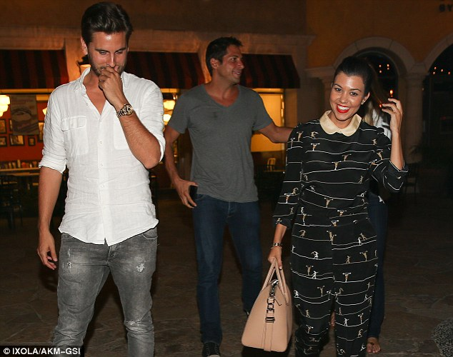 Full of smiles: The group laughed and joked around despite Francis' recent court case and Kourtney's family drama
