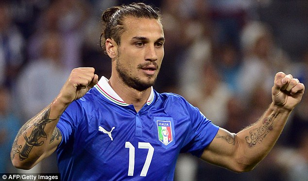 Ready to go: After helping Italy qualify for the World Cup, Dani Osvaldo is fully fit for the West Ham clash