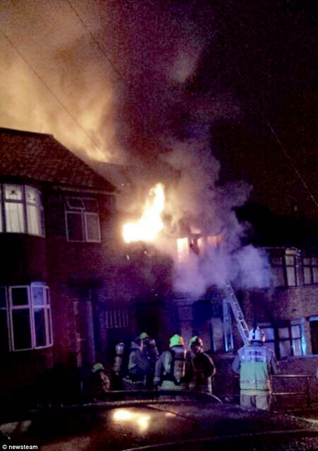 Police and firefighters were called to the building in the Spinney Hills area of the city at about 12.35am