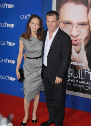 Happier times: After eight years of marriage, actors Josh Brolin and Diane Lane called it quits on Valentines Day this year