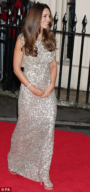 The sequin dress cost £2,500