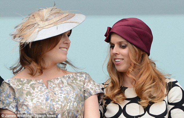 Siblings: Princess Eugenie and her older sister Princess Beatrice enjoy Derby Day at the Derby Festival in Epsom, Surrey, in June