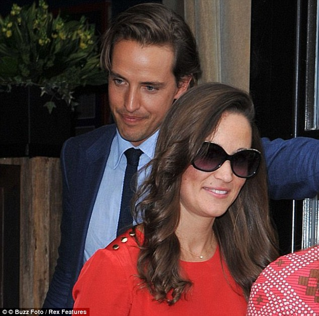Good friends: Pippa Middleton and Alexander Gilkes leave Soho House in New York last September. Pippa attended Alexander's wedding to designer Misha Nonoo in Venice