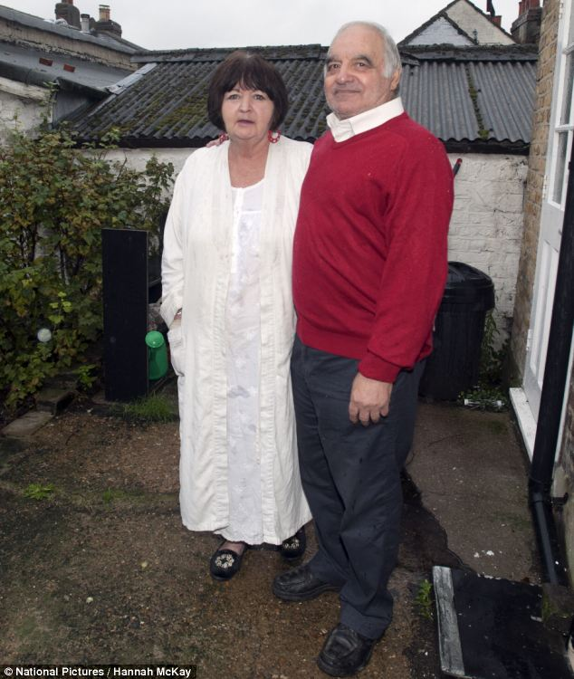 Philomena and Richard Chadwick say the squatters sit on the roof