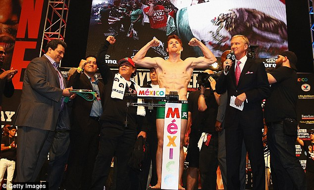 On the money: Alvarez made the 152lb catch-weight limit despite fears he would come in heavy