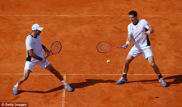 In unison: Fleming and Murray were in fine form to put Great Britain within touching distance of the World Group