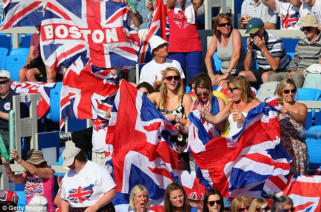 Waving the flag: Great Britain had some marvellous support from the stands