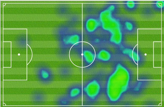 Here, there and everywhere: Ozil was a constant menace to the Sunderland defence on his Arsenal debut