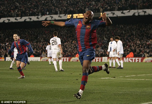 Peak: Eto'o enjoyed his best years at Barcelona, where he won three La Liga titles and two Champions Leagues