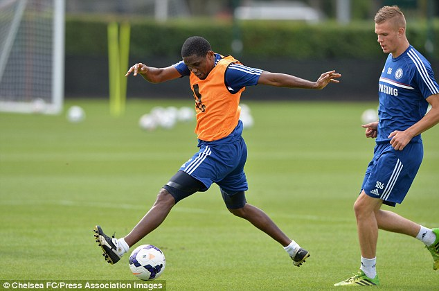 In line: Eto'o is expected to make his debut at Goodison Park