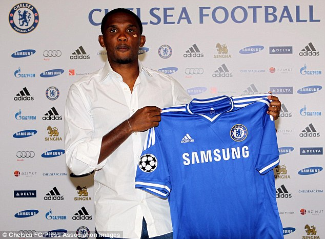 Career path: Chelsea's new signing Samuel Eto'o has revealed he almost joined Arsenal earlier in his career