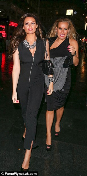 Girls' night out: Jessica Wright poses with friends as she celebrates her birthday