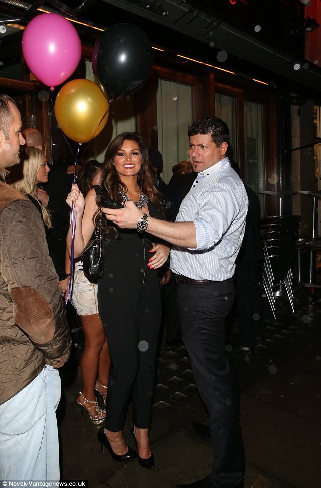 A gift: Jessica looks delighted with her birthday balloons